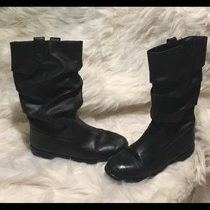 Black Slouch boots little girls size 2